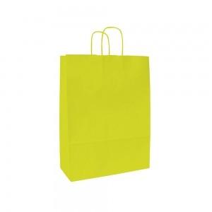Papieren draagtas gedraaide handgreep - Wit kraft - Citrus - 15x8x20 cm-0
