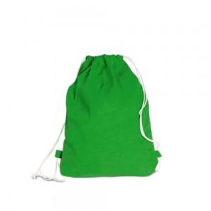 Katoenen rugtas trekkoord sluiting - Groen - 40x50 cm-0