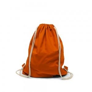 Katoenen rugtas trekkoord sluiting - Oranje - 40x50 cm-0