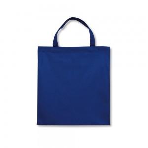 Polyester draagtas korte handgrepen - Blauw - 38x42 cm-0
