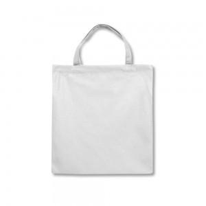 Polyester draagtas korte handgrepen - Wit - 38x42 cm-0