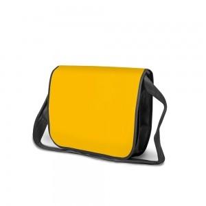 PP non-woven draagtas schouderband - Geel/Zwart - 36x6x27cm-0
