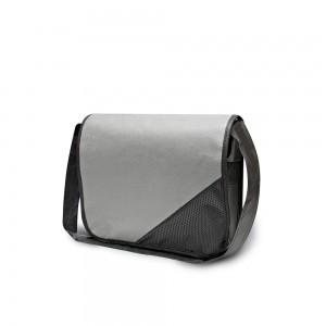PP non-woven draagtas schouderband - Grijs/Zwart - 36x6x27cm-0