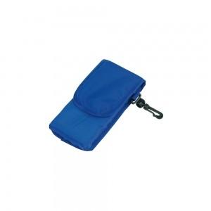 Opvouwbare polyester boodschappentas shouderhengsels - Blauw - 38x42 cm-0