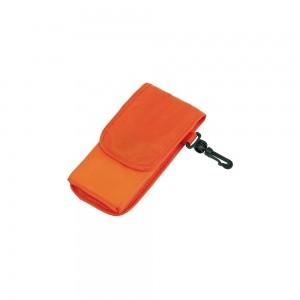 Opvouwbare polyester boodschappentas shouderhengsels - Oranje - 38x42 cm-0