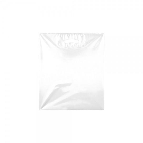 Plastic draagtas uitgestanste handgreep - Wit - 38x45 + 2x5 cm-0