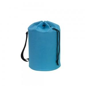 Polyester draagtas trekkoord sluiting + schouderband - Lichtblauw - Ø30x50 cm-0