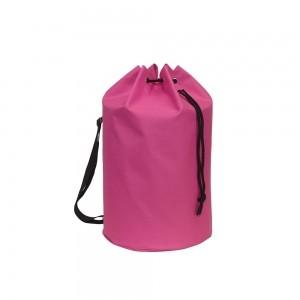 Polyester draagtas trekkoord sluiting + schouderband - Roze - Ø30x50 cm-0