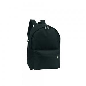 Polyester rugtas schouderbanden - Zwart - 28x14x40 cm-0