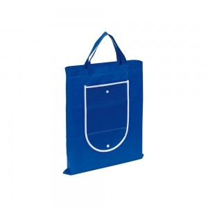 Opvouwbare pp non-woven boodschappentas korte handgreep - Blauw - 40x47,5 cm-0