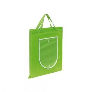 Opvouwbare pp non-woven boodschappentas korte handgreep - Groen - 40x47,5 cm-0