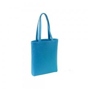 Vilten draagtas schouderhengsels - Blauw - 38x8x42 cm-0