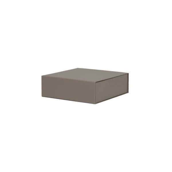 Luxe magneetdoos - Taupe (mat) - 15x15x5 cm-0