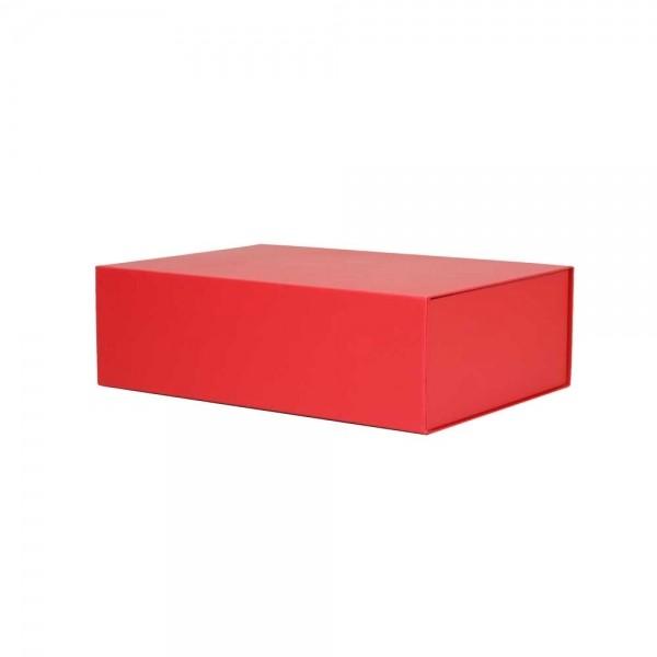 Luxe magneetdoos - Rood (mat) - 33x22x10 cm-0