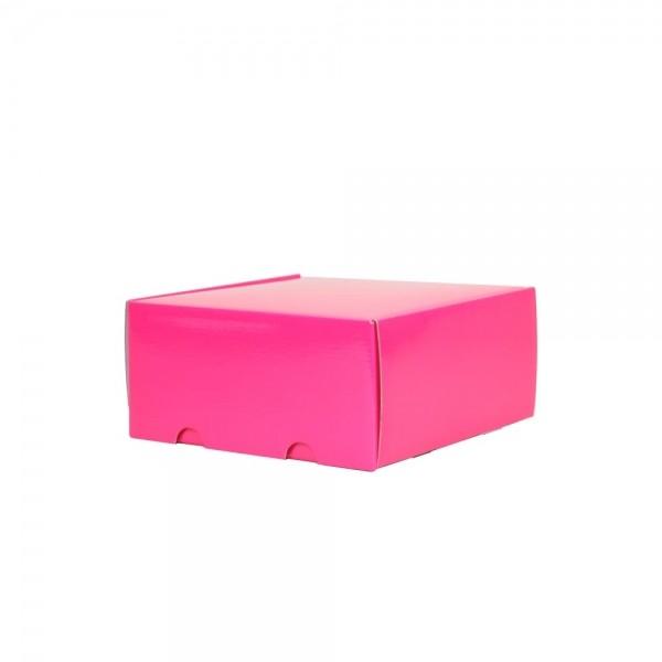 Luxe verzenddoos - Roze (glans) - 25x23x11 cm-0