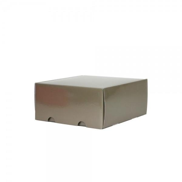 Luxe verzenddoos - Taupe (glans) - 25x23x11 cm-0