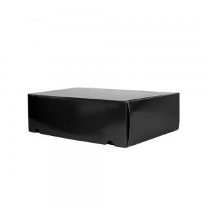 Luxe verzenddoos 34x24x10,5 cm - zwart glans