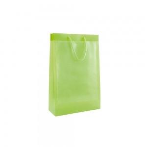 Transparante plastic venstertas - Groen - 26x10x40 cm (A4)-0