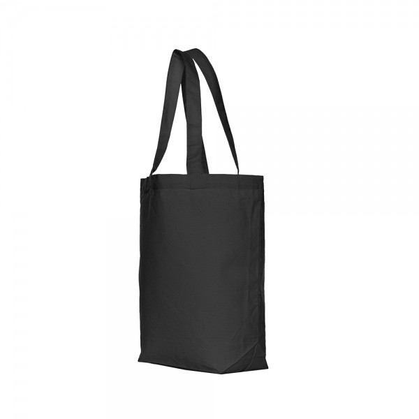 Canvas draagtas schouderhengsels - Zwart - 40x42+12 cm