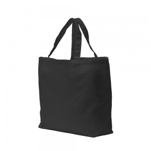 Canvas draagtas schouderhengsels - Zwart - 48x36+11 cm