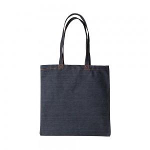 Denim canvas draagtas schouderhengsels - Donkerblauw - 38x42 cm