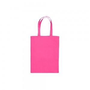 Katoenen draagtas korte handgrepen - Roze - 22x27 cm