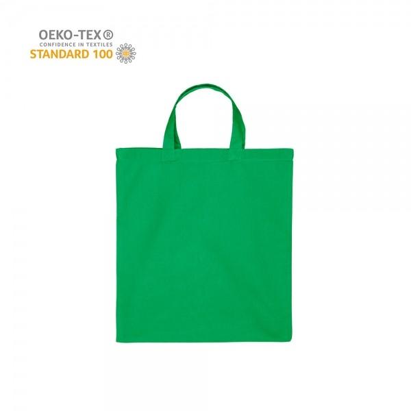 Katoenen draagtas korte handgrepen - Groen - 38x42 cm