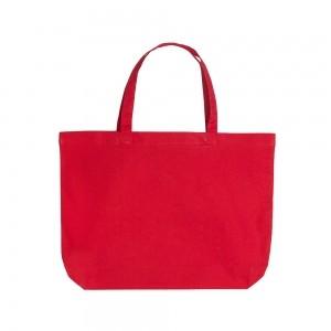 Katoenen draagtas korte handgrepen - Rood - 48x36+10 cm