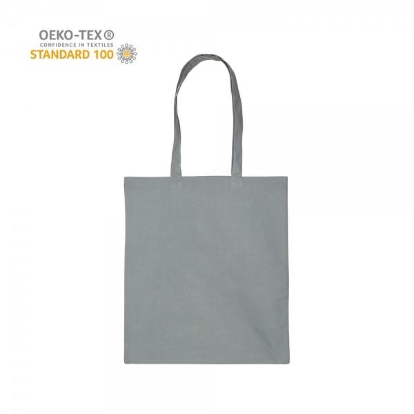 Katoenen draagtas schouderhengsels oeko-tex - Grijs - 38x42 cm