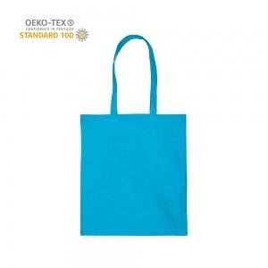 Katoenen draagtas schouderhengsels oeko-tex - Lichtblauw - 38x42 cm