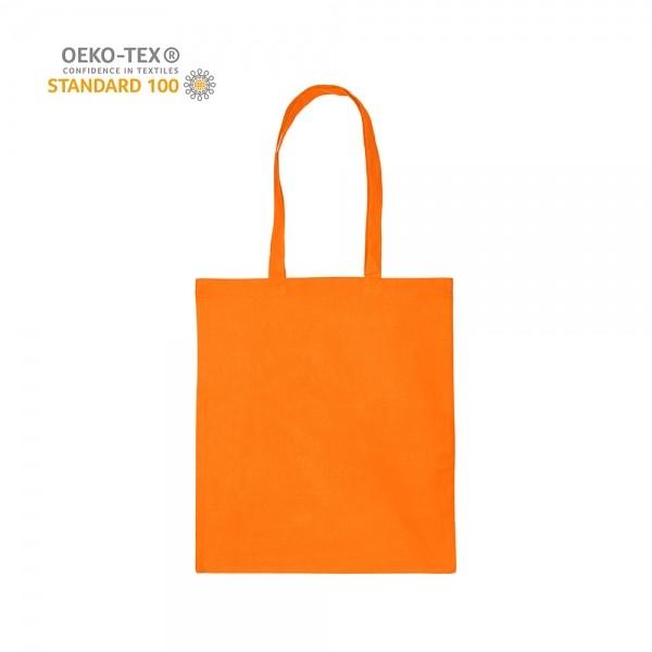 Katoenen draagtas schouderhengsels oeko-tex - Oranje - 38x42 cm