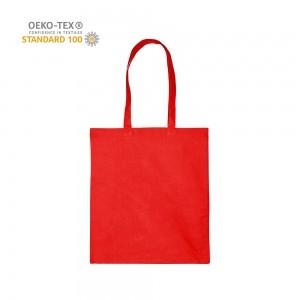 Katoenen draagtas schouderhengsels oeko-tex - Rood - 38x42 cm
