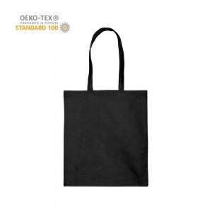 Katoenen draagtas schouderhengsels oeko-tex - Zwart - 38x42 cm