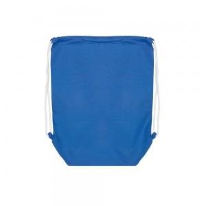 Katoenen rugtas trekkoordsluiting - Blauw - 37x48+11 cm