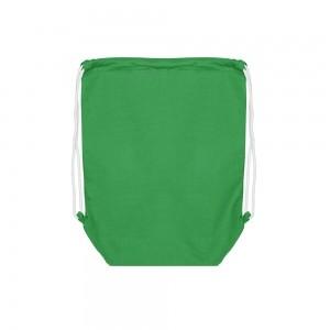 Katoenen rugtas trekkoordsluiting - Groen - 37x48+11 cm