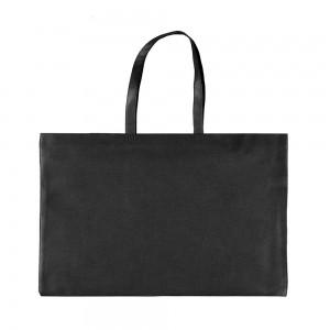 PP non woven draagtas 71x45+15 cm zwart