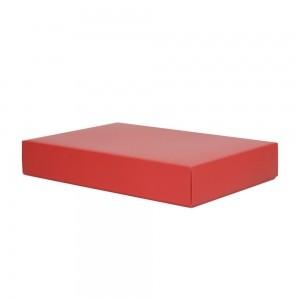Luxe geschenkdoos 52x40x9 cm Rood mat